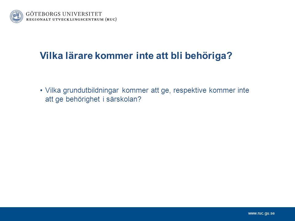 www.ruc.gu.se Frågeställningar Fritidspedagoger som utbildar sig i praktiskt- estetiska ämnen, med specialpedagogexamen resp speciallärarutbildning, b