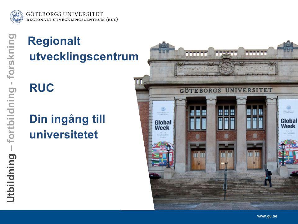www.ruc.gu.se RUC Regionalt utvecklingscentrum Lärarutbildningsnämnden Regionalt utvecklingscentrum Göteborgs universitet Välkomna till Mötesplats Sär