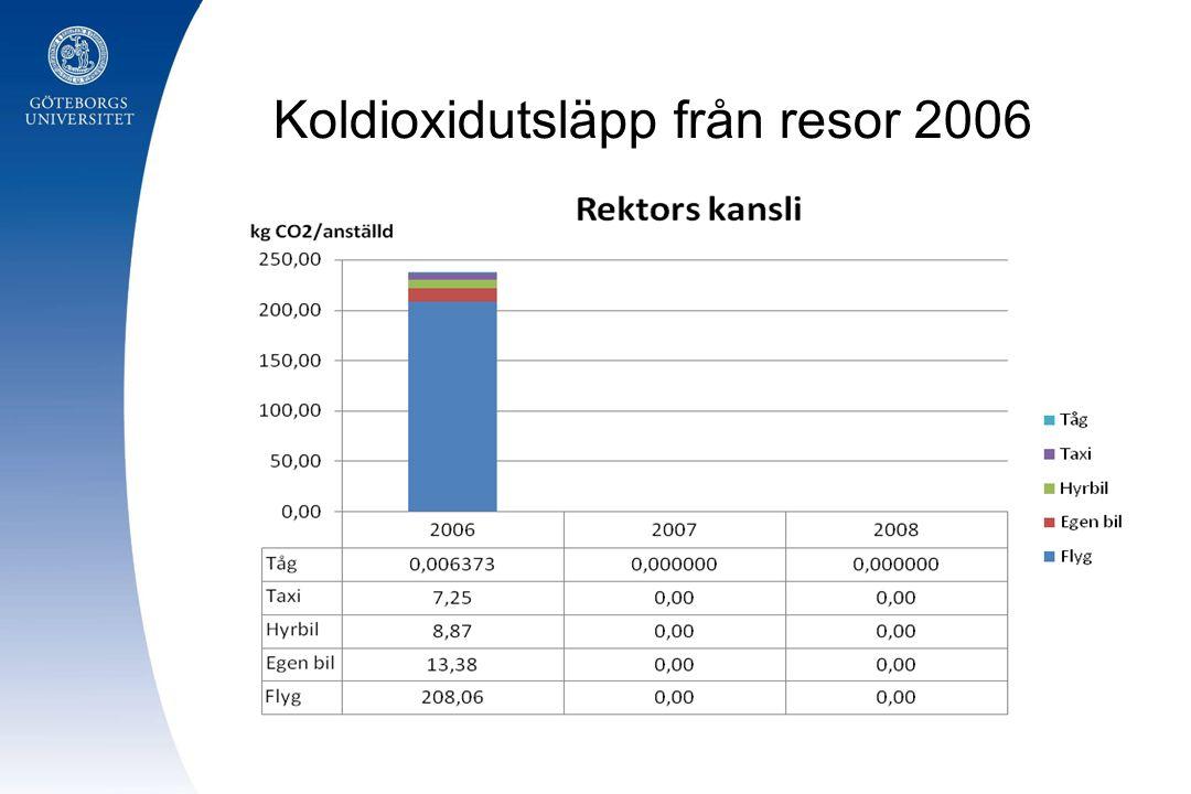 Koldioxidutsläpp från resor 2006