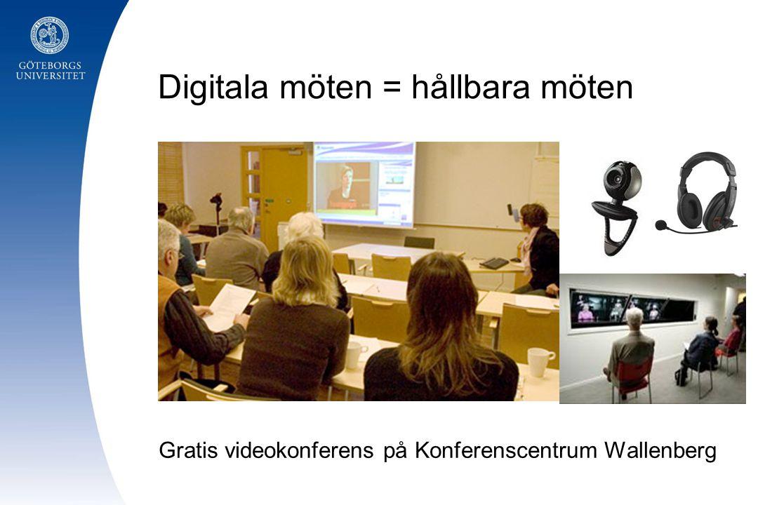 Digitala möten = hållbara möten Gratis videokonferens på Konferenscentrum Wallenberg