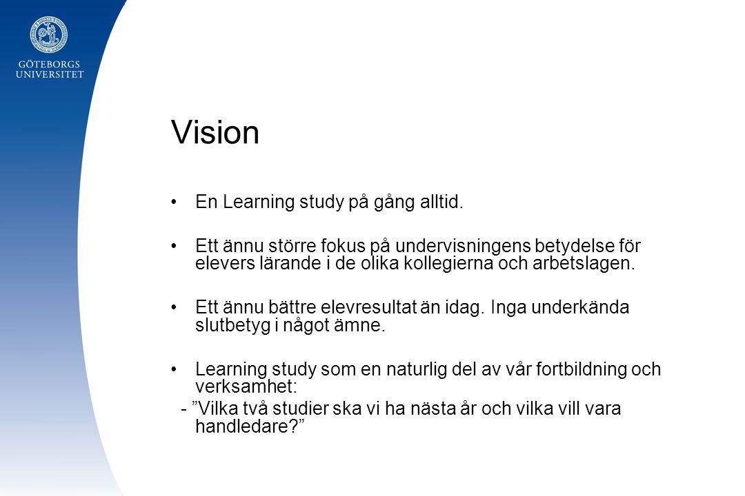 En Learning study på gång alltid.
