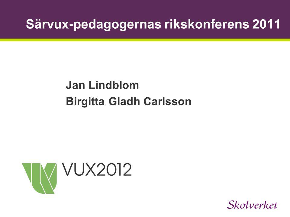 Särvux-pedagogernas rikskonferens 2011 Jan Lindblom Birgitta Gladh Carlsson
