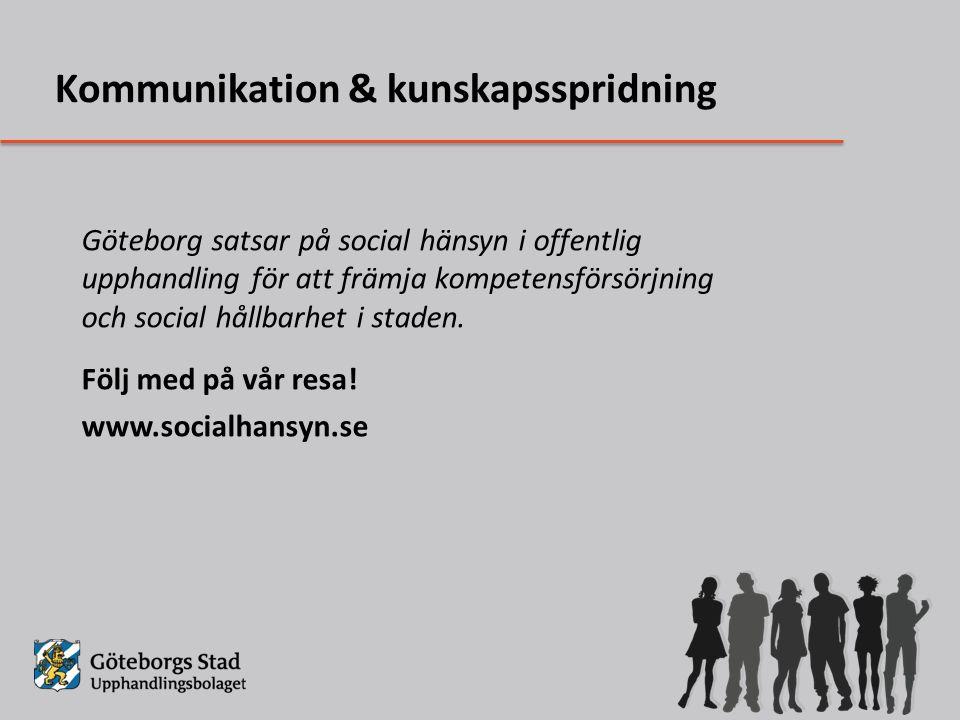 Göteborg satsar på social hänsyn i offentlig upphandling för att främja kompetensförsörjning och social hållbarhet i staden.