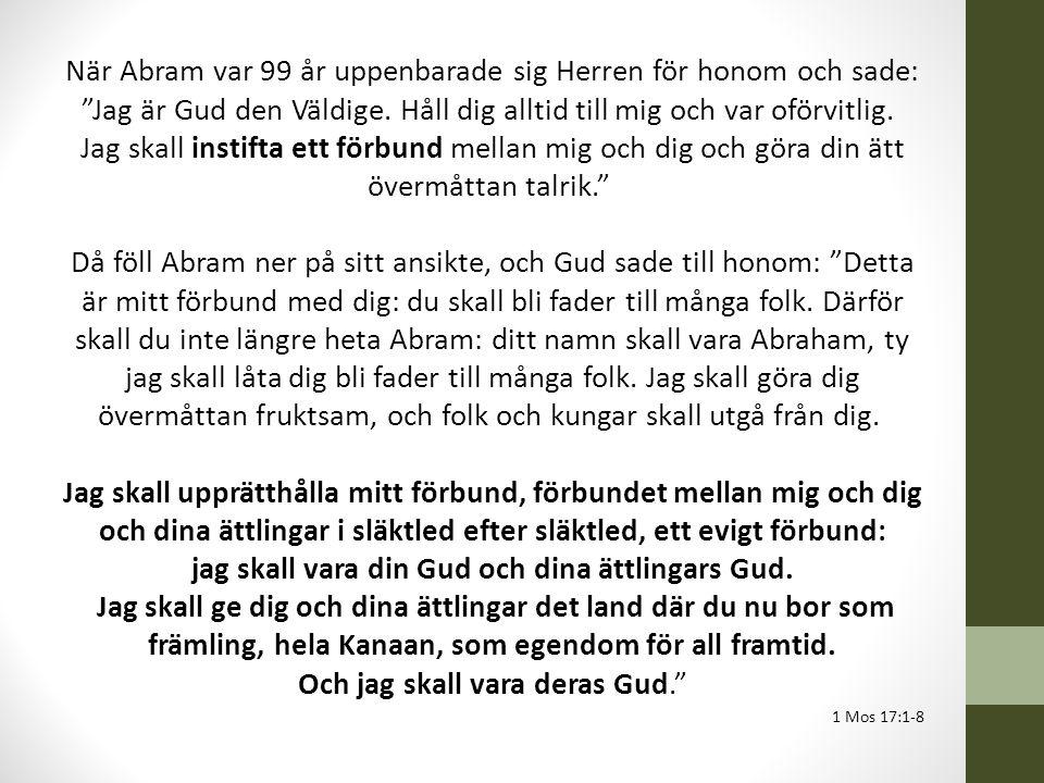 När Abram var 99 år uppenbarade sig Herren för honom och sade: Jag är Gud den Väldige.
