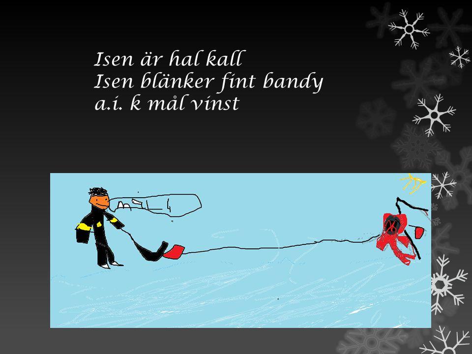 Isen är hal kall Isen blänker fint bandy a.i. k mål vinst