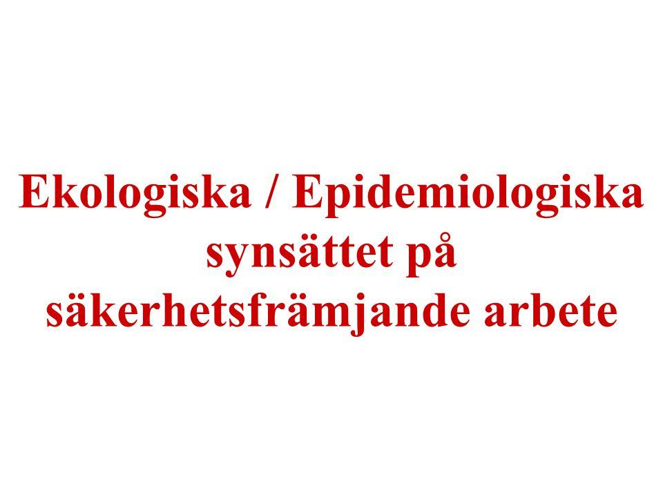 14 Ekologiska / Epidemiologiska synsättet på säkerhetsfrämjande arbete
