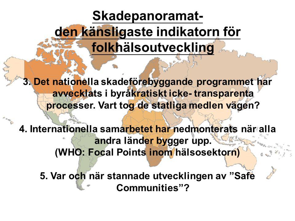 Skadepanoramat- den känsligaste indikatorn för folkhälsoutveckling 3.