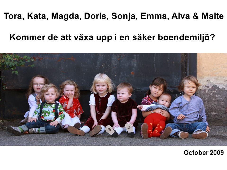 October 2009 Tora, Kata, Magda, Doris, Sonja, Emma, Alva & Malte Kommer de att växa upp i en säker boendemiljö