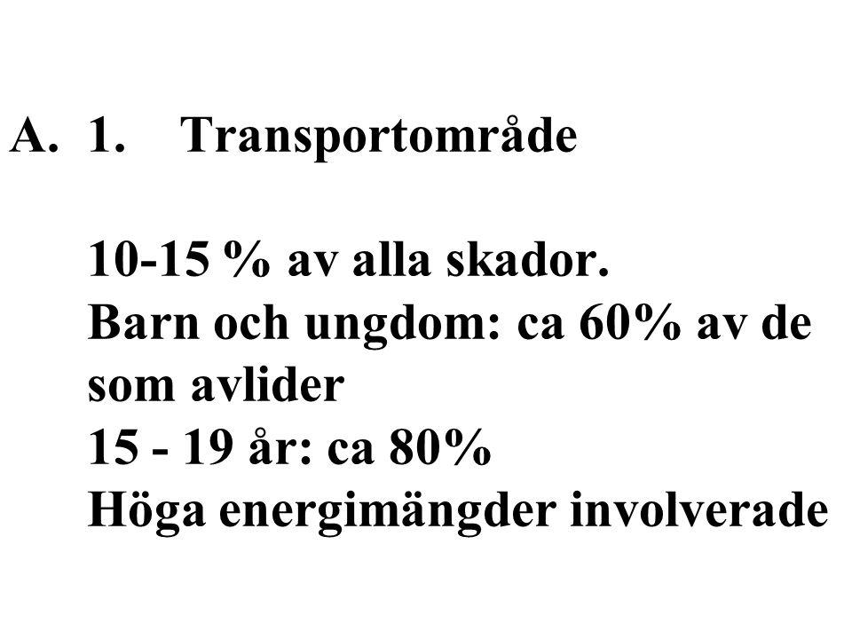 A.1. Transportområde 10-15 % av alla skador.