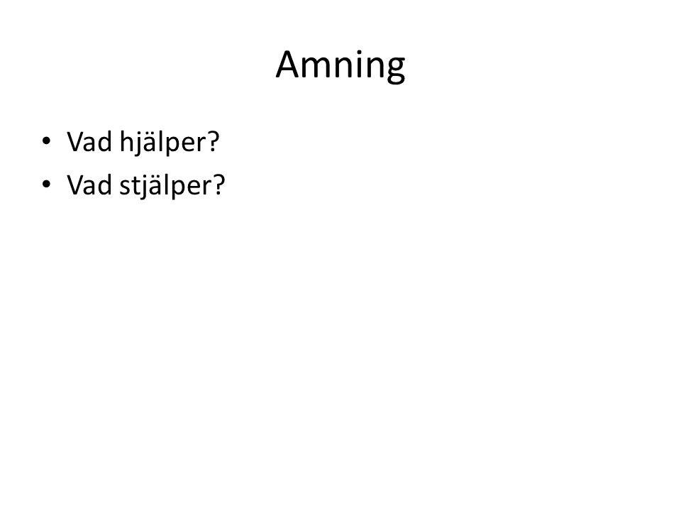 Amning Vad hjälper? Vad stjälper?