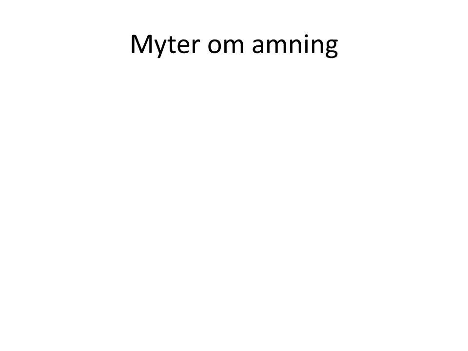 Myter om amning