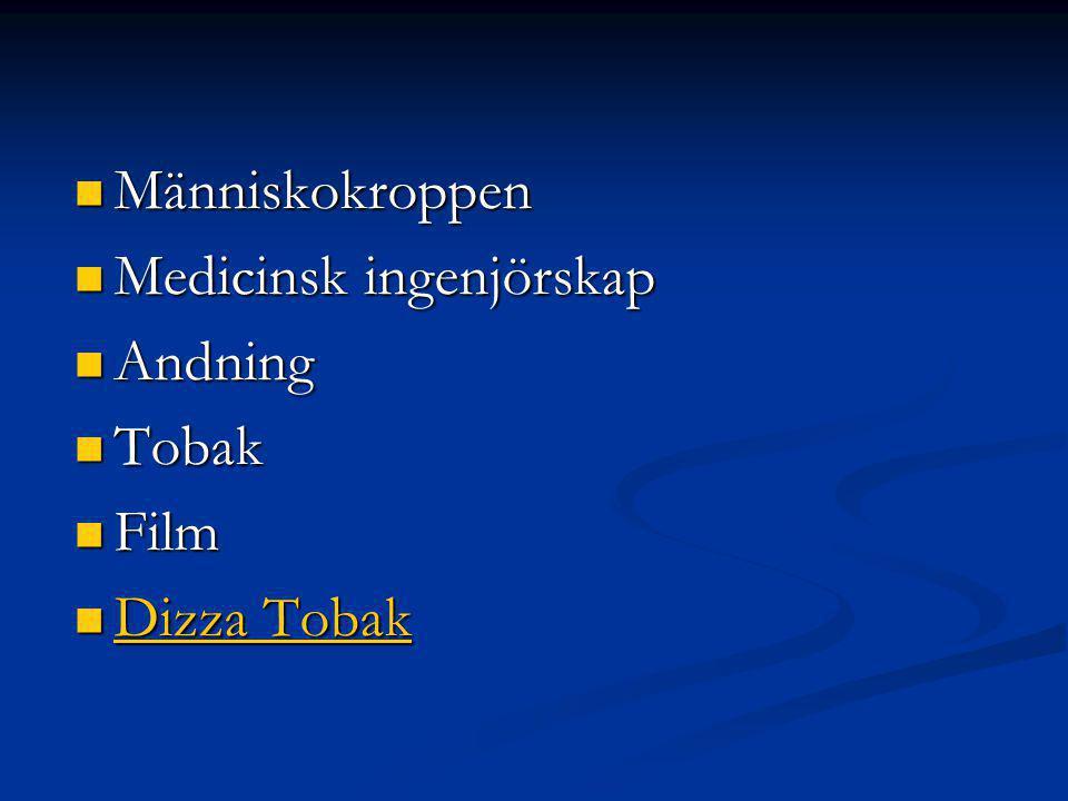 Människokroppen Människokroppen Medicinsk ingenjörskap Medicinsk ingenjörskap Andning Andning Tobak Tobak Film Film Dizza Tobak Dizza Tobak Dizza Tobak Dizza Tobak