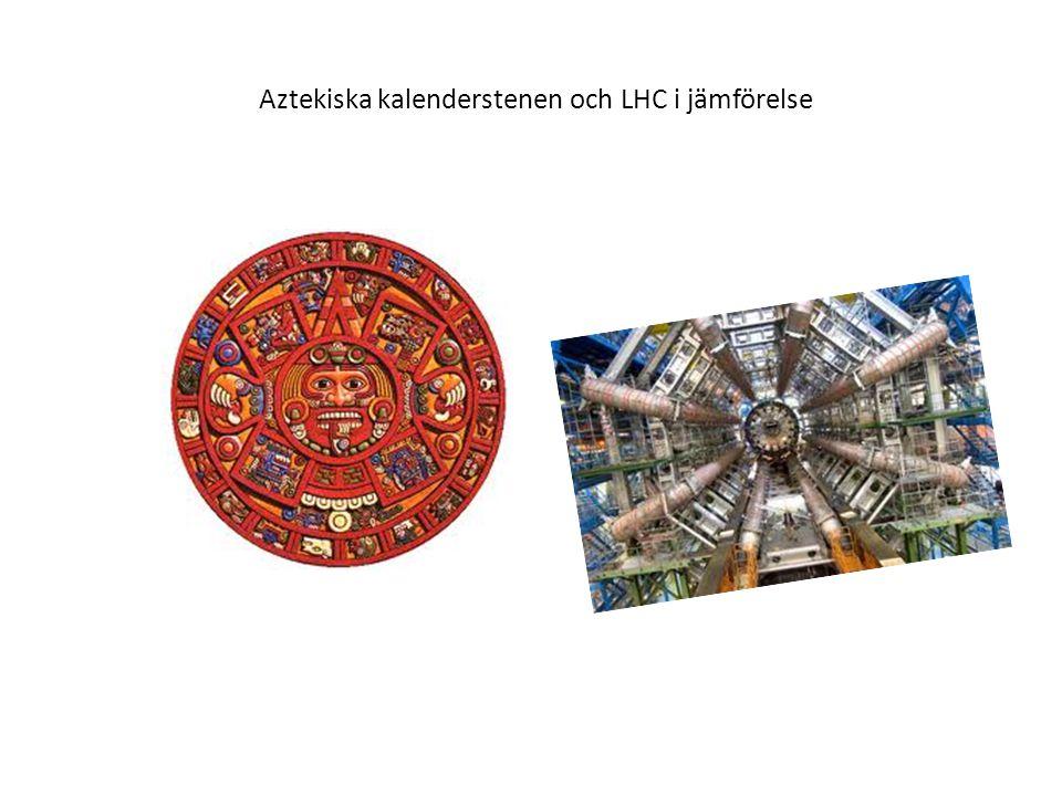 Aztekiska kalenderstenen och LHC i jämförelse