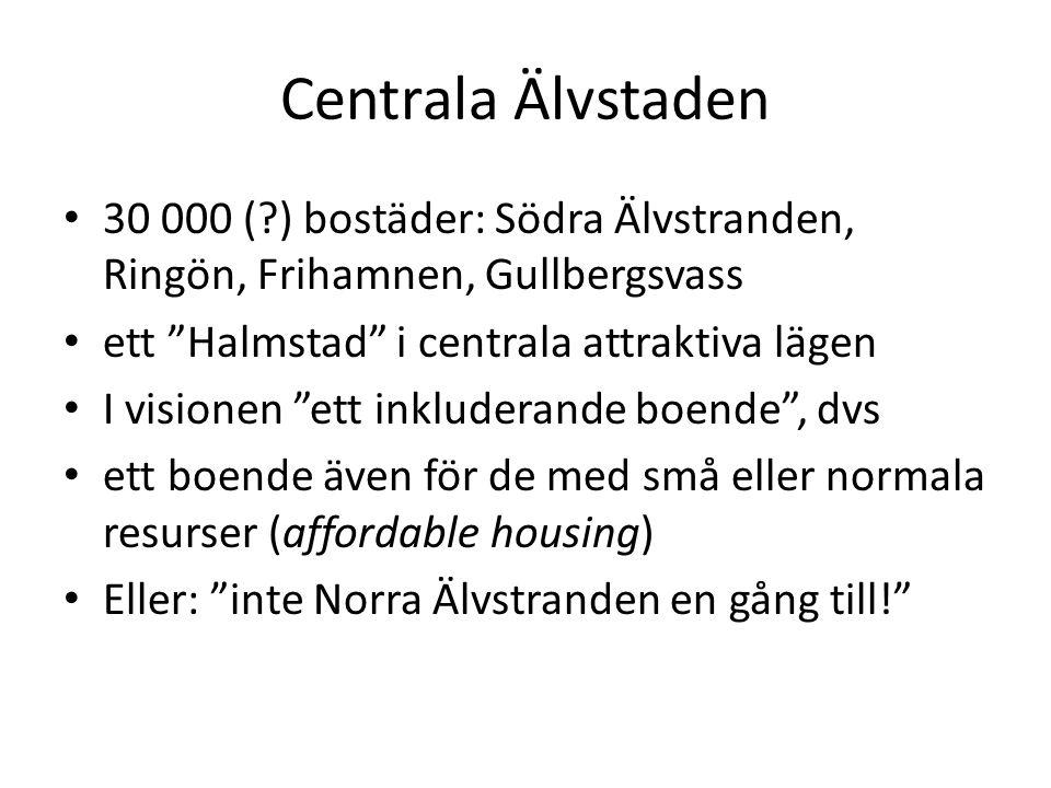 Social mix i Sverige.Förortslösning: medelklassen till den utsatta förorten.