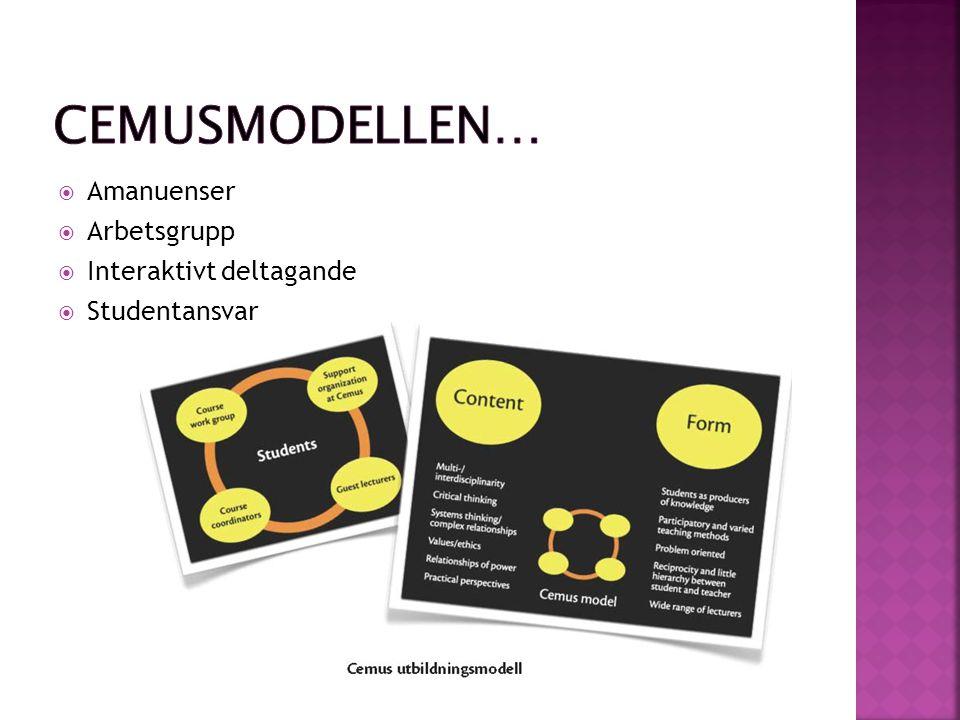  Uppsala universitets pedagogiska program http://regler.uu.se/digitalAssets/2/2295_Ped agogiskt_program.pdf http://regler.uu.se/digitalAssets/2/2295_Ped agogiskt_program.pdf  Studentdrivet  Många olika läroformer  Eget ansvar