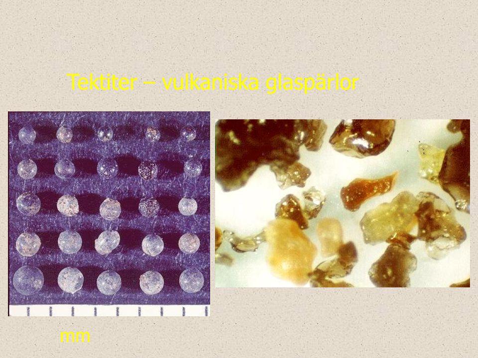 mm Tektiter – vulkaniska glaspärlor