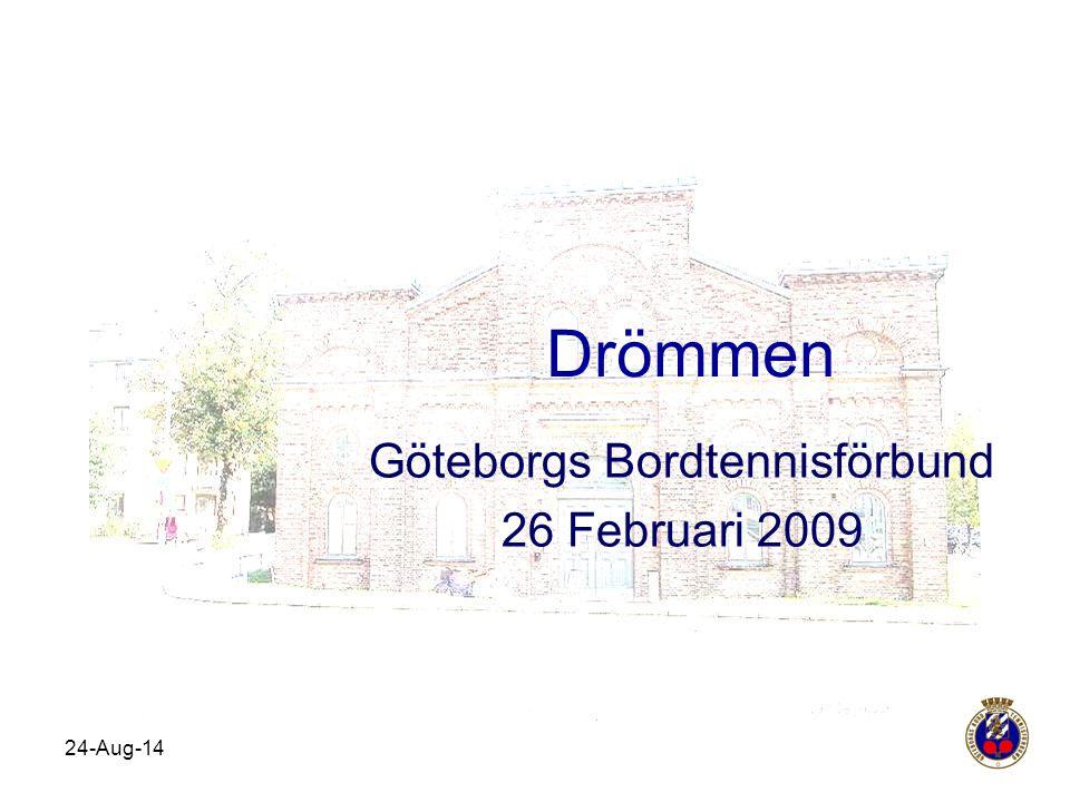 24-Aug-14 Drömmen Göteborgs Bordtennisförbund 26 Februari 2009