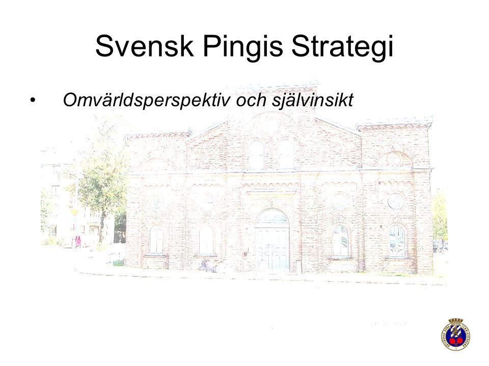 Svensk Pingis Strategi Omvärldsperspektiv och självinsikt