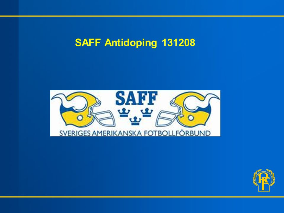SAFF Antidoping 131208