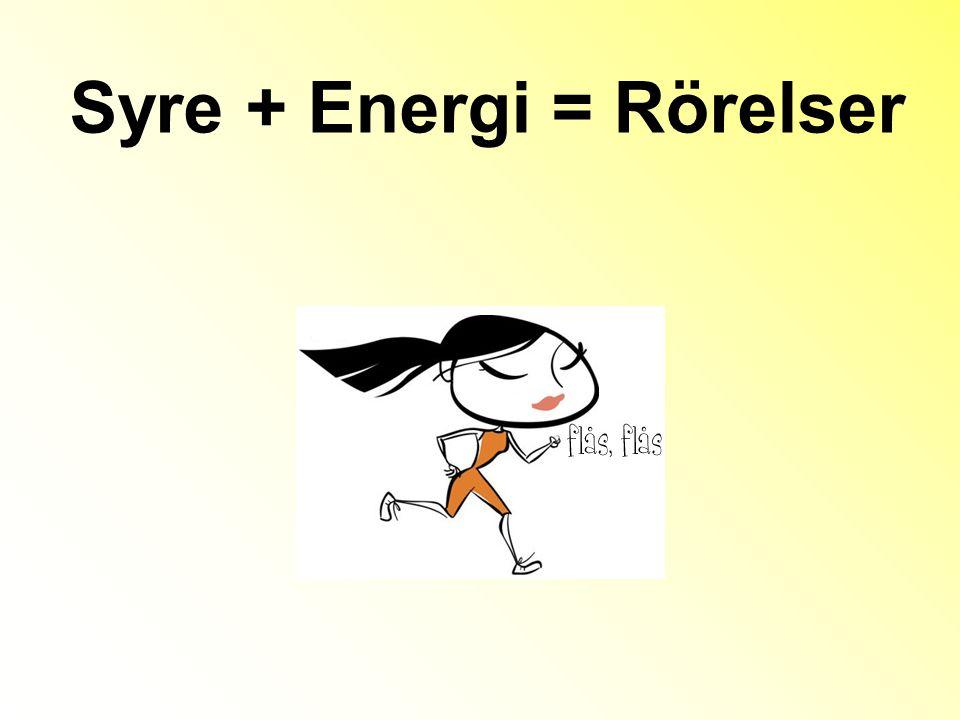 Syre + Energi = Rörelser