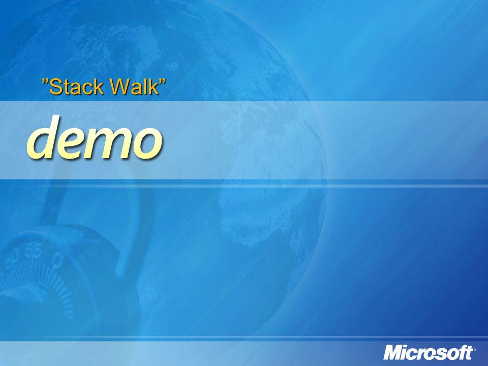 """Stack Walk"""