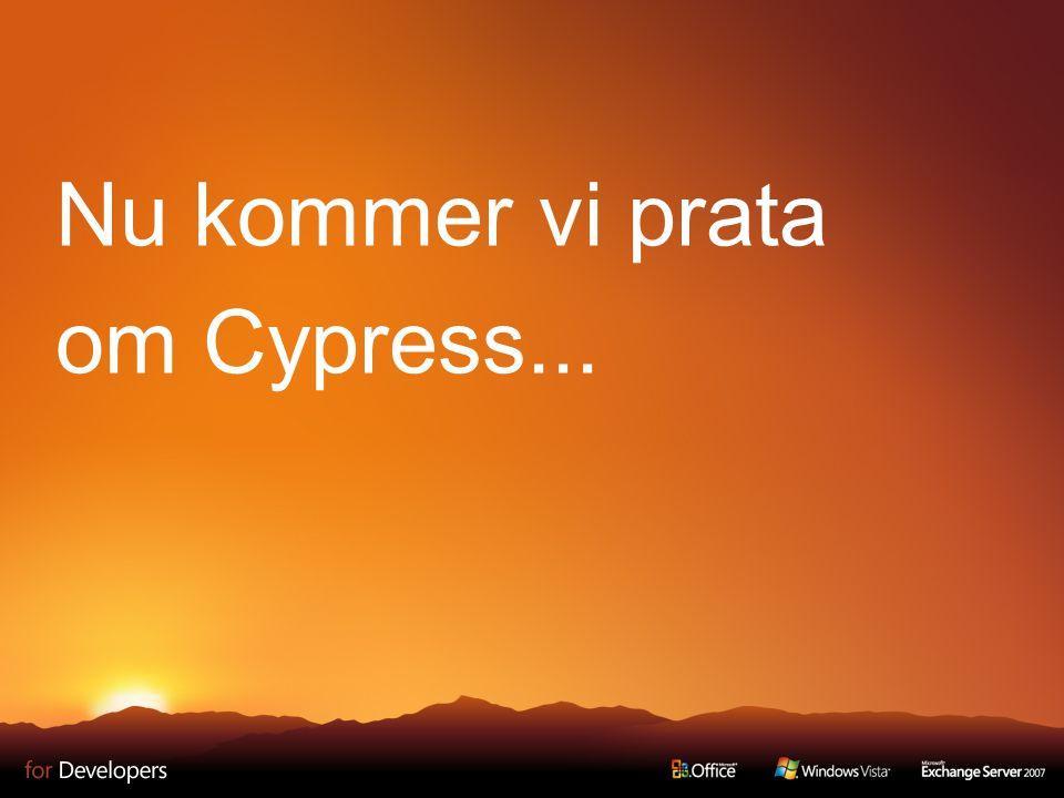 Nu kommer vi prata om Cypress...