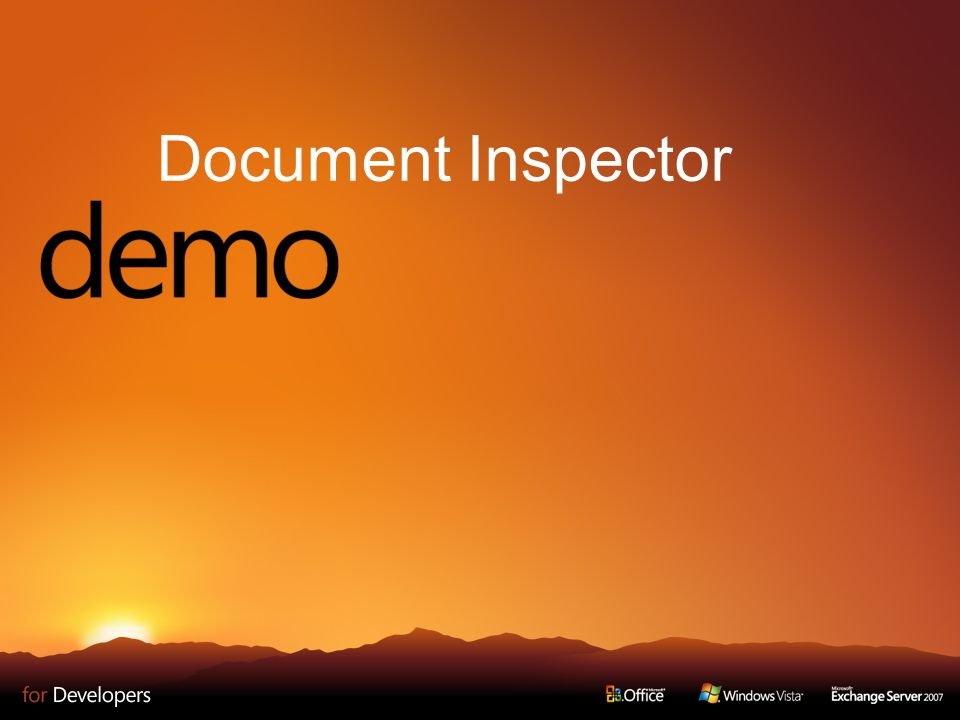 Document Inspector