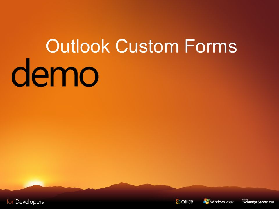 Outlook Custom Forms