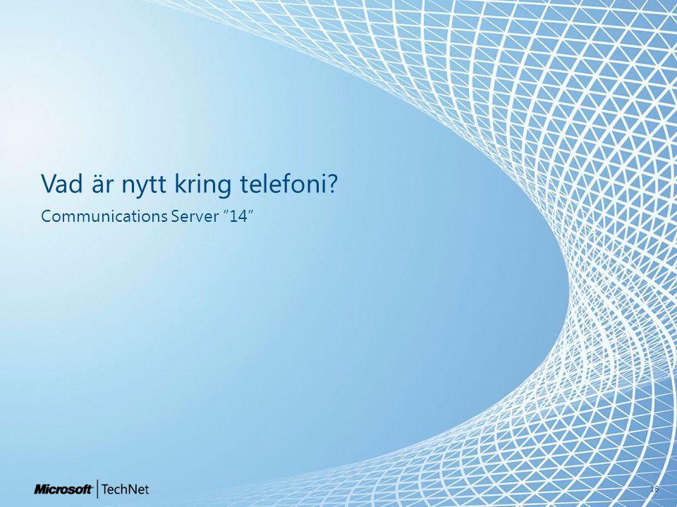 Vad är nytt kring telefoni Communications Server 14 16