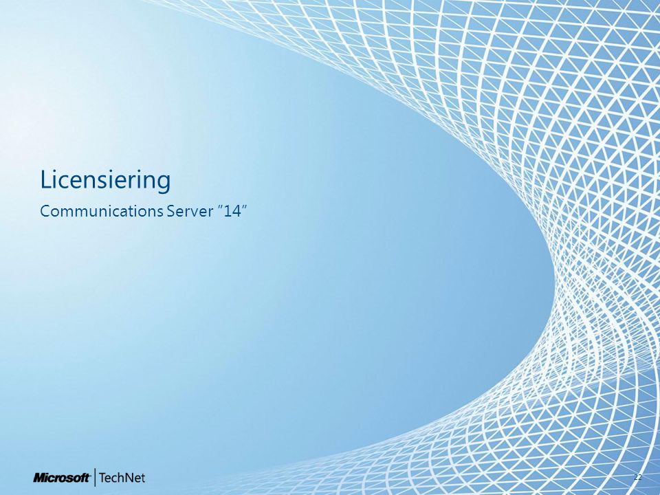 Licensiering Communications Server 14 22