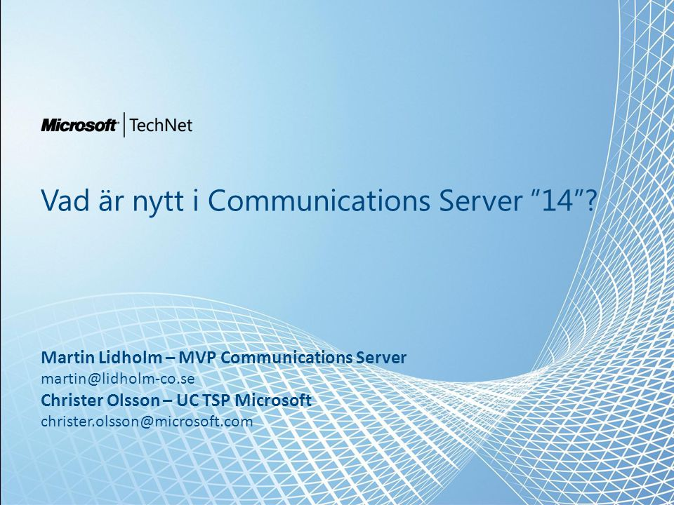 Vad är nytt i Communications Server 14 .