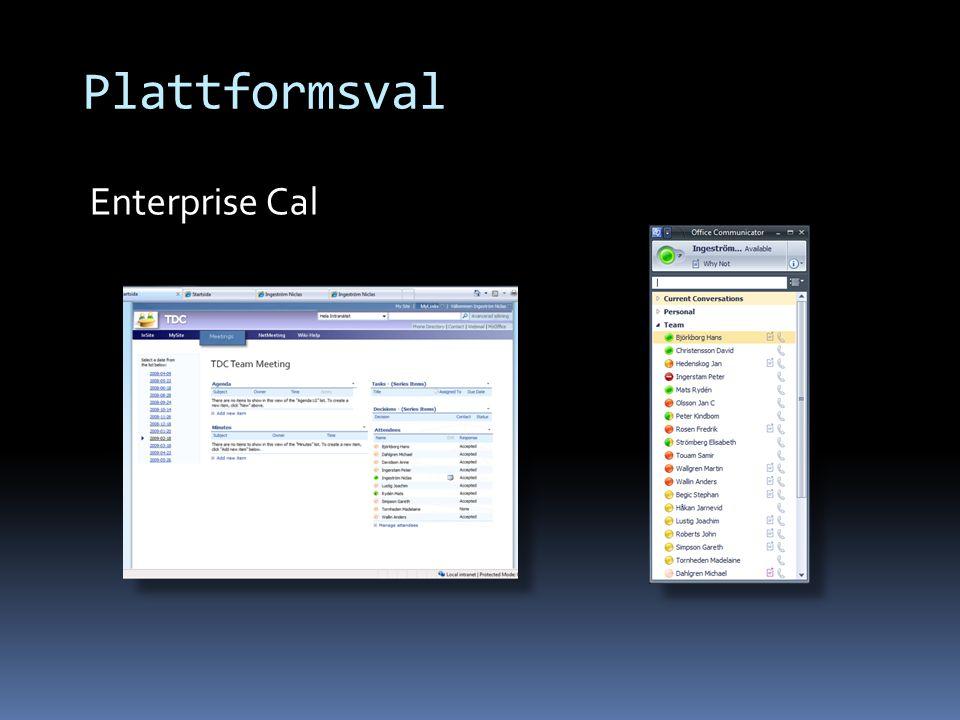 Plattformsval Enterprise Cal