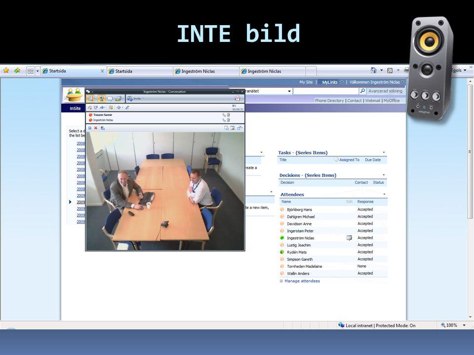 INTE bild Search: InSite MySite NetMeeting Wiki-Help MyLinks TDC Team Meeting Meetings