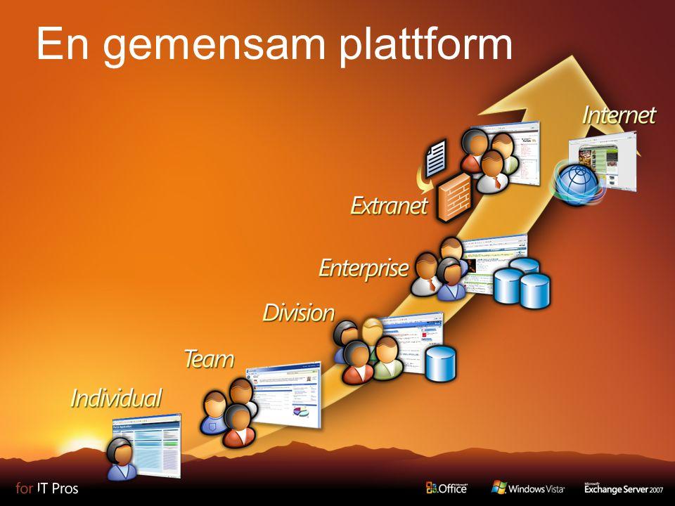 4 En gemensam plattform