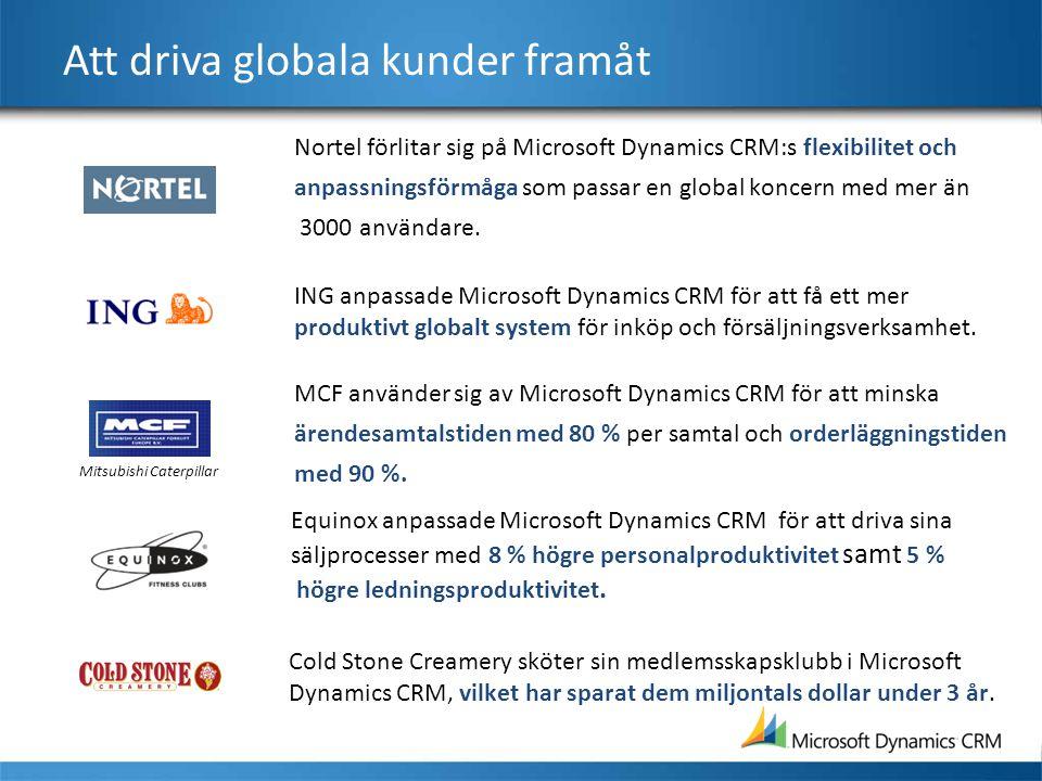 Att driva globala kunder framåt Nortel förlitar sig på Microsoft Dynamics CRM:s flexibilitet och anpassningsförmåga som passar en global koncern med m