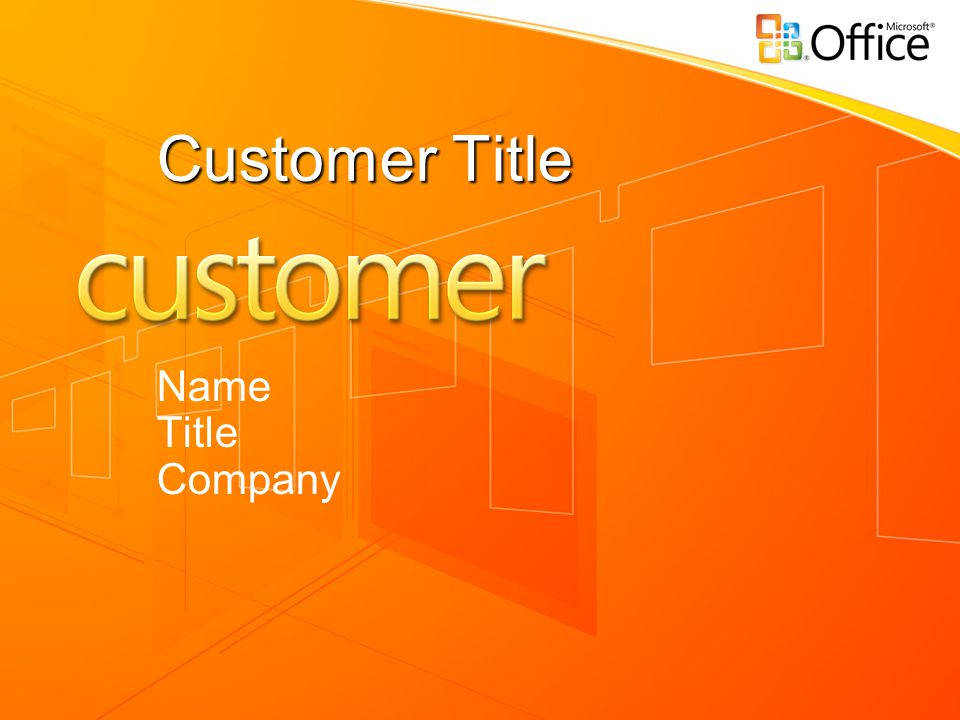 Customer Title Name Title Company