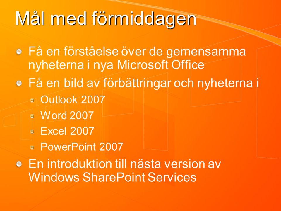 Outlook 2007 Pontus Haglund Mid Market Solution Specialist Microsoft AB