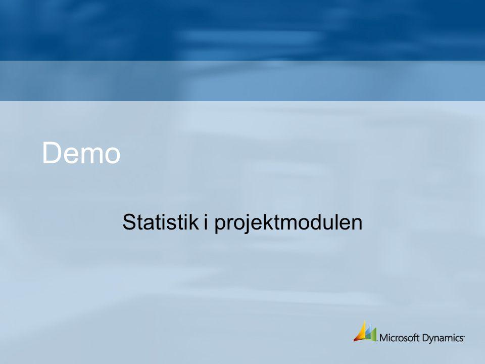 Demo Statistik i projektmodulen