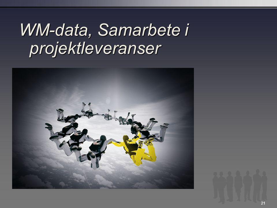 21 WM-data, Samarbete i projektleveranser
