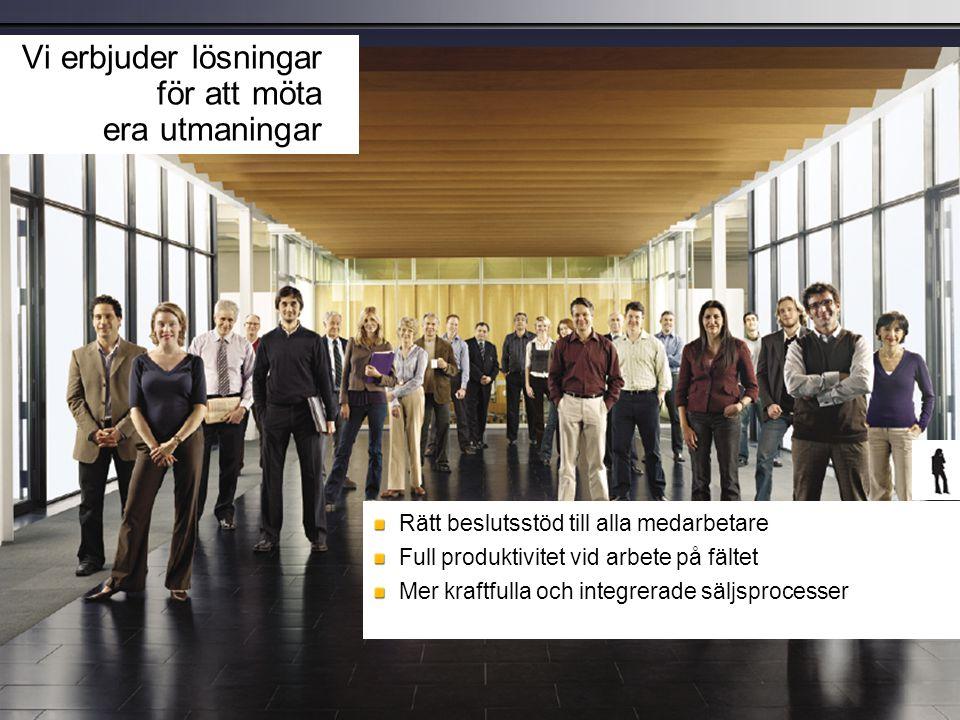 ProfitableGrowth Increase Revenue Growth Drive New Demand Improve Sales Win Rate Increase Customer Retention Decrease Costs Profitability Manage Marketing Costs Reduce Cost of Sales Contain Service Costs  Påskynda produktlanseringar  Bättre utförda kampanjer  Dela marknadsinformation  Öka försäljningstiden  Skapa verkningsfulla anbud  Möjliggör teamförsäljning (ny-, mer-, kors-)  Gör servicen tillgänglig  Gör det lättare att dela kunskaperna  Använd förebyggande support  Förbättra kundidentifieringen  Förenkla framtagningen av innehåll  Öka fält- och kanaleffektiviteten  Öka försäljningsproduktiviteten  Minska kostnaderna för utbildning och resor  Öka värdet av CRM-investeringar  Minska tiden för problemlösning  Erbjud mobil service och onlineservice  Förbättra serviceproduktiviteten Öka servicetillgängligheten Viktiga marknadsföringsområden som förbättras av Microsoft ® - program Öka servicetillgängligheten Viktiga marknadsföringsområden som förbättras av Microsoft ® - program