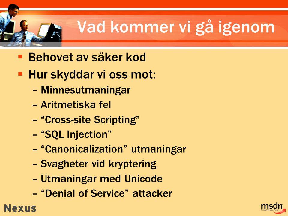Hur används SQL Injection .
