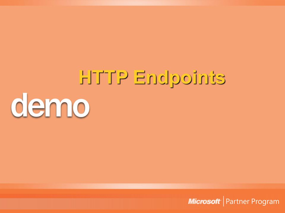 HTTP Endpoints