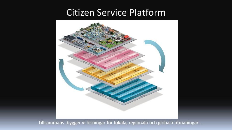Citizen Service Platform Tillsammans bygger vi lösningar för lokala, regionala och globala utmaningar....