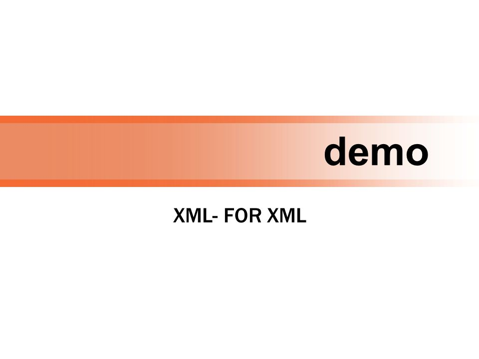 demo XML- FOR XML