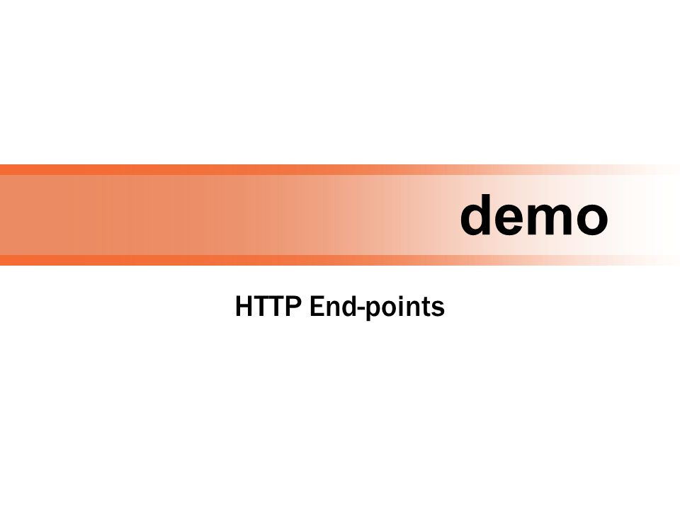 demo HTTP End-points