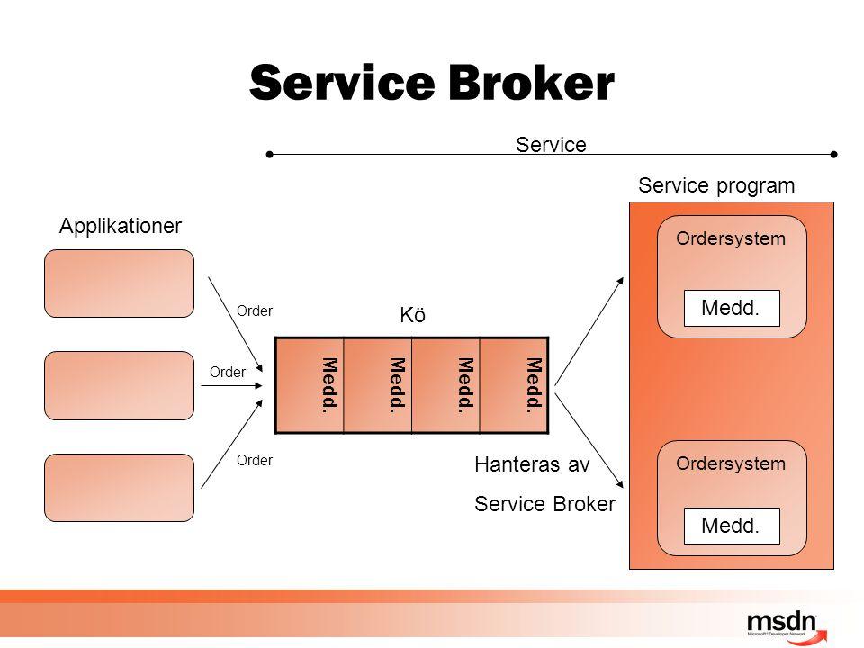Service Broker Medd.
