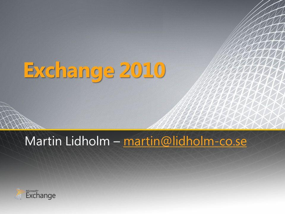 Entourage Entourage for Exchange Web Services − Ny Mac klient som förlitar sig helt på Exchange Web services (/EWS) − Fungerar för Exchange 2007 SP1 och Exchange 2010 − Beta ute nu!