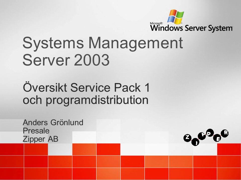 SMS 2003 Service Pack 1