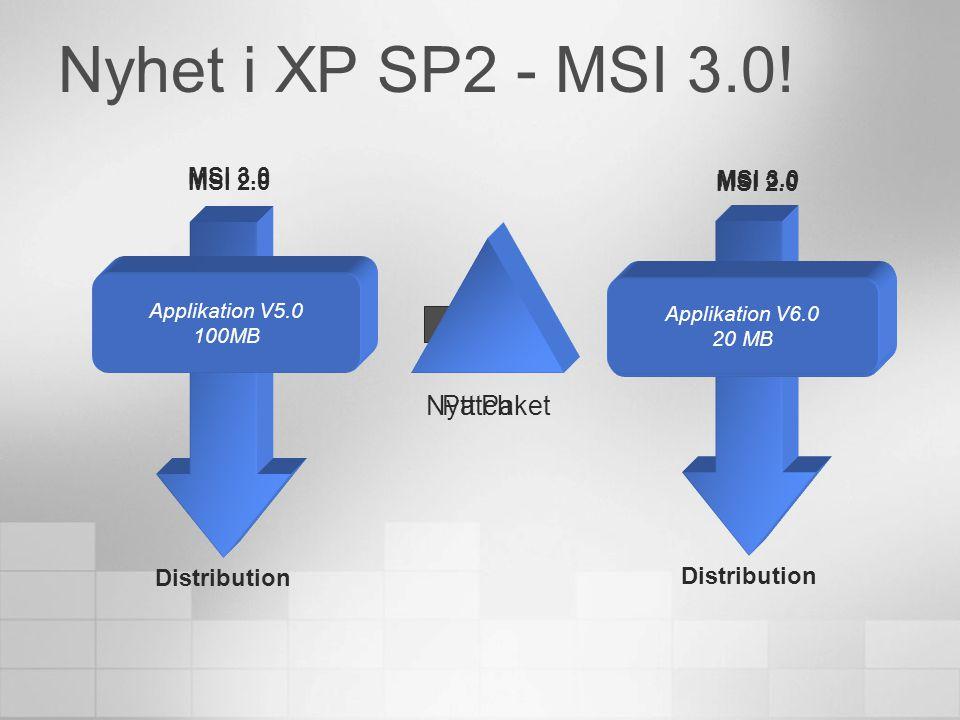Distribution av applikationer SMS2003 Klient Klient Klient Applikation