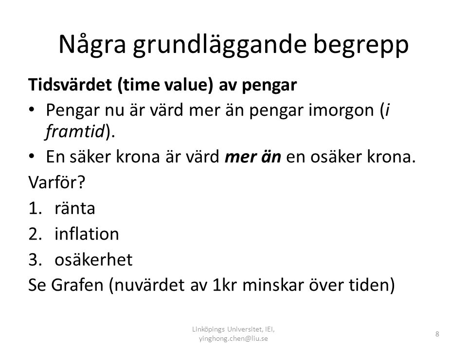 Exempel 1: beräkna följande projekt NPV Suppose that you are analyzing an investment proposal.
